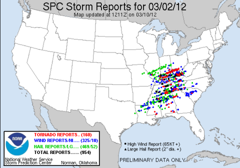 national weather service tornado reports